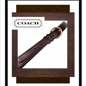Coach Brown Leather Belt